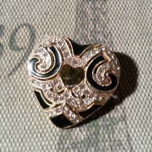 1928 jewelry heart brooch